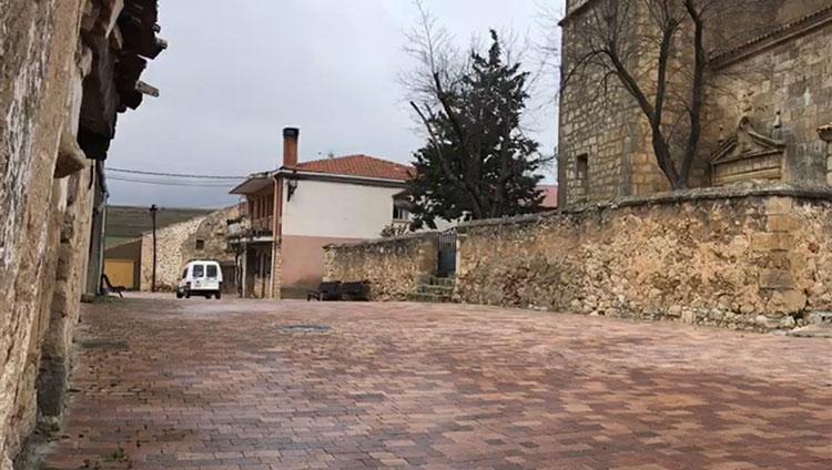 Obras de pavimentación en Torremocha de Campo