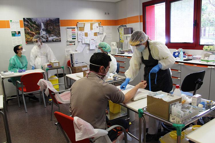 Primeras pruebas en el centro de salud de Azuqueca de Henares