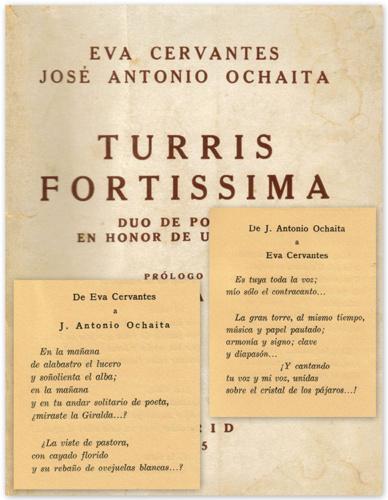 Turris Fortísima fue el primer libro de poemas, escrito a doble mano por Eva Cervantes y José A. Ochaíta