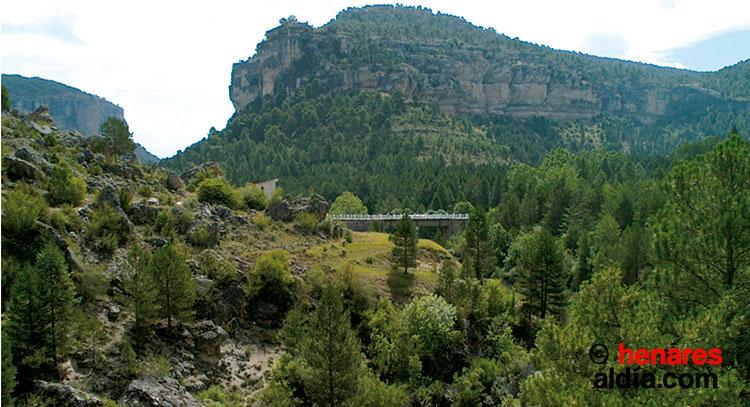 Paisaje del Parque Natural del Alto Tajo en el municipio de Peralejos de las Truchas.