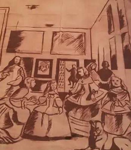 """Boceto de """"Las Meninas"""", por Resti Cendejas"""