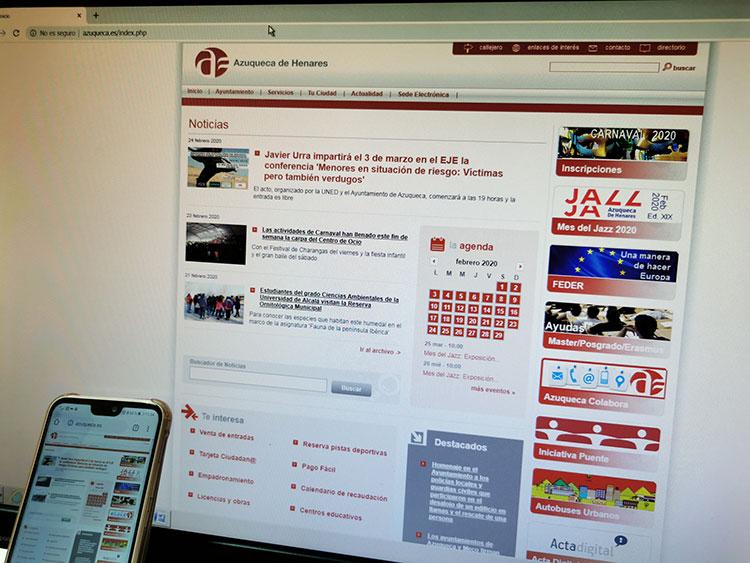 Azuqueca va a renovar su portal web y a impulsar una aplicación municipal para móviles