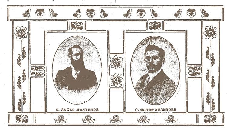 Angel Monterde y Claro Abánades, fundadores de La Torre de Aragón
