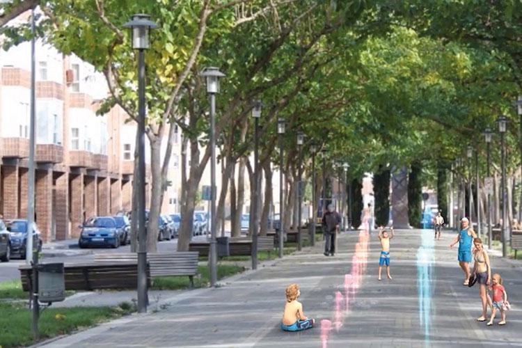 El bulevar de Las Acacias contará con fuentes transitables y un juego infantil vanguardista
