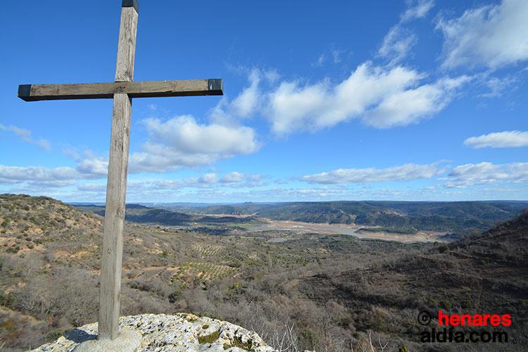 Mirador de El Olivar sobre la comarca de la Alcarria y los embalses del Tajo.