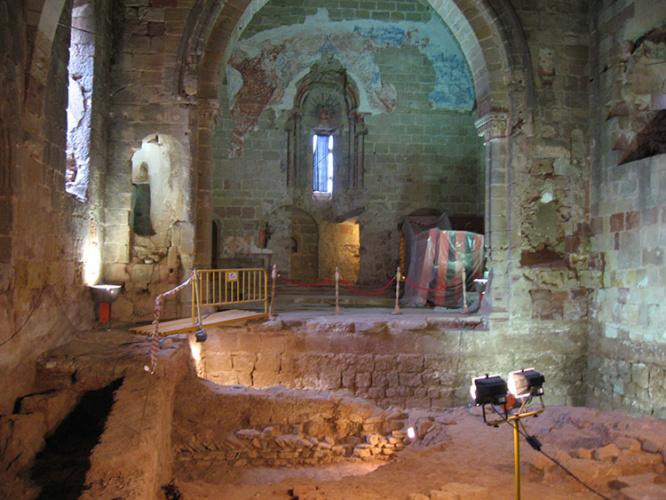 Interior de la iglesia de Santiago en Sigüenza