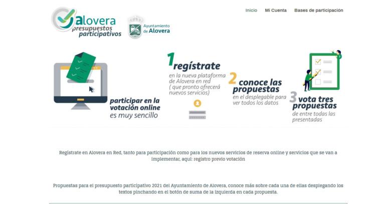 Para participar en estos presupuesto participativos hay que acceder a la web www.aloveraenred.es