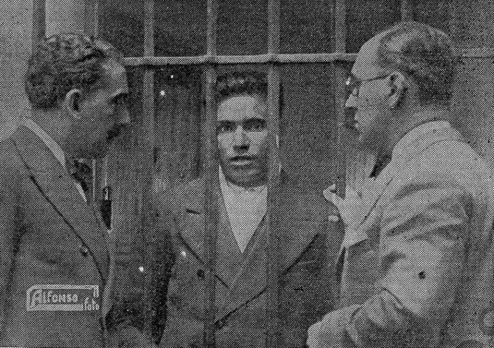 Agustín Barrena (primero por la derecha), con el zagal de Fuensalida