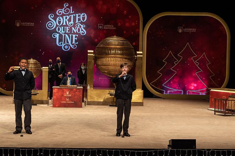 Momento en que se cantó el premio gordo. Foto: SELAE