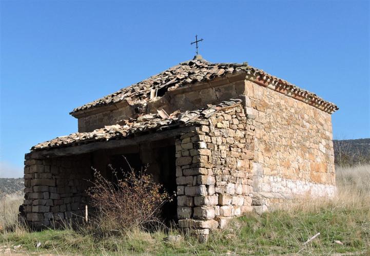 Vista de la ermita en Diciembre de 2020