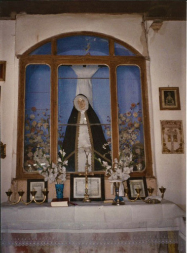 El antiguo altar de la Virgen de la Soledad (cortesía de Gerardo Blanco)