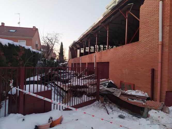 Pared cedida en el colegio Giovanni Antonio Farina. Fotografía: Ayuntamiento de Azuqueca