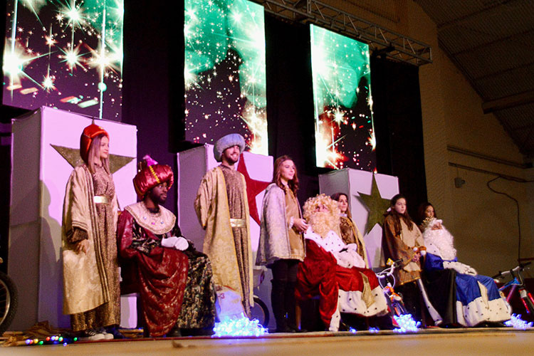 Imagen de archivo de los Reyes Magos del año pasado. Fotografía: Ayuntamiento de Azuqueca