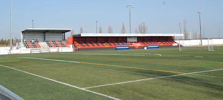 Imagen de archivo del campo de fútbol del complejo San Miguel. Fotografía: Ayuntamiento de Azuqueca