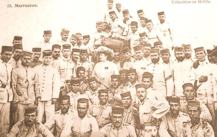 En 1922 viajó a Melilla, a animar a los soldados que se batían en la Guerra del Rif