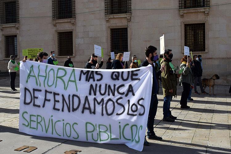 Centro social La Trenza. Manifestación defensa de servicios públicos