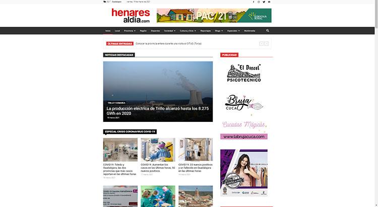 web de www.henaresaldia,com