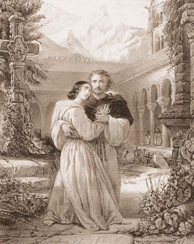 Alegoría de la ópera La Favorita, con la que triunfó Andrés Antón