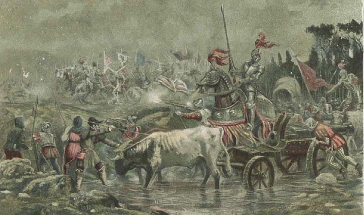 Los ejércitos comuneros, camino de Villalar, por Alvarez Dumont