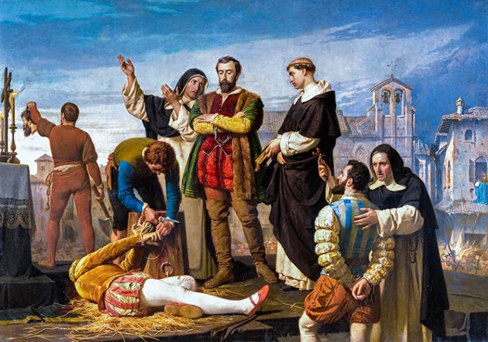 Ejecución de los Comuneros en Villalar, por Antonio Gisbert