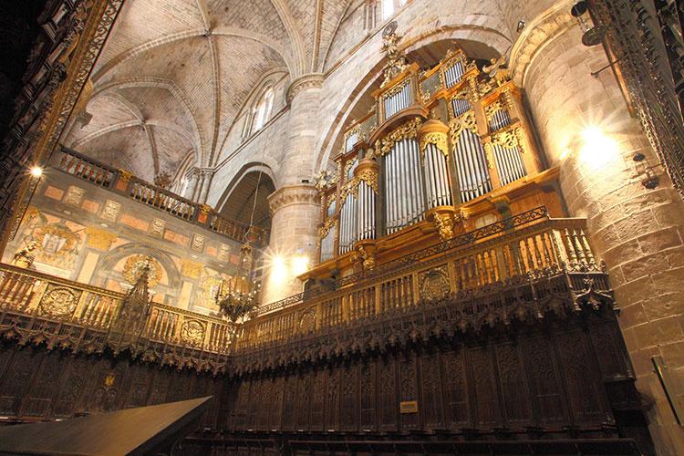 Órgano mayor de la catedral (1946). Foto de Antonio López Negredo