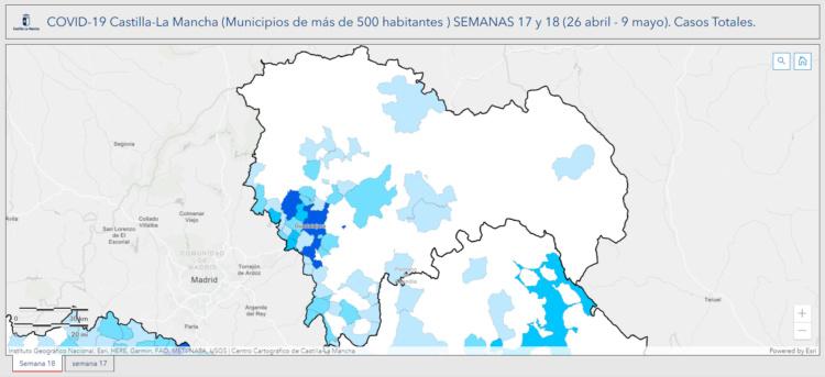 Situación de la provincia de Guadalajara en las dos últimas semanas