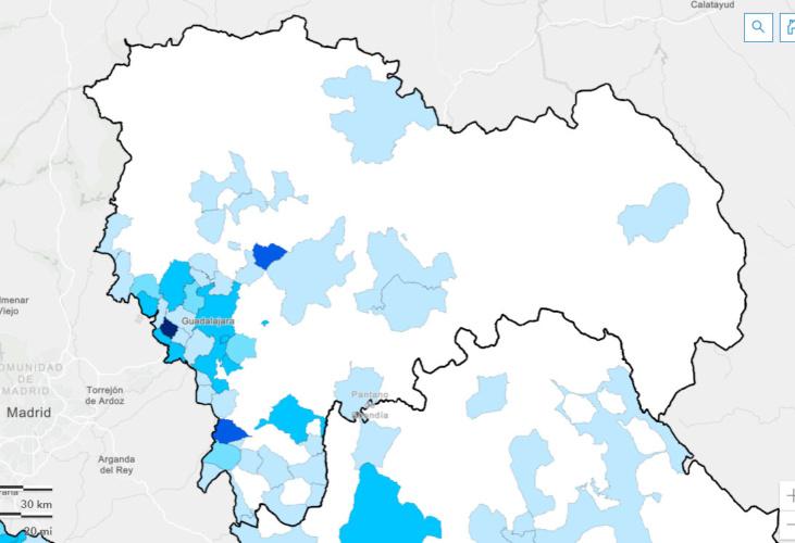 Incidencia acumulada en Guadalajara