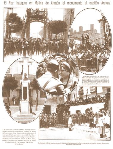 Molina de Aragón, y España, homenajearon a Félix Arenas el 5 de junio de 1928