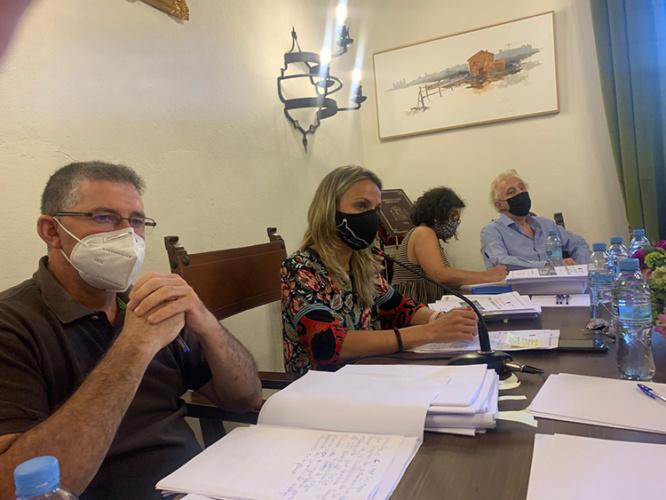 Pleno del ayuntamiento de Sigüenza en el que se acordó la reforma de la Alameda