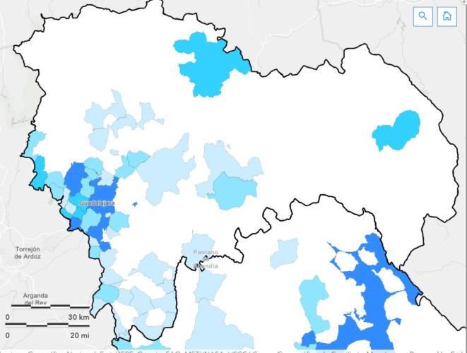 Situación de la provincia de Guadalajara en la última semana