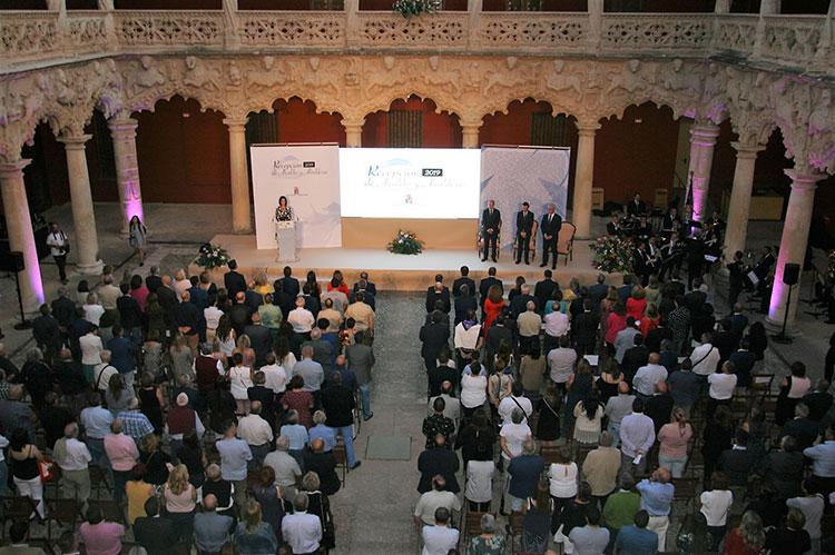Foto de archivo de la última recepción de alcaldes celebrada en 2019