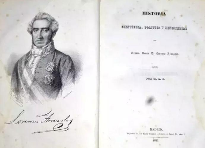 Numerosas fueron las obras escritas por Lorenzo Arrazola, entre ellas, la Historia Científica, Política y Ministerial