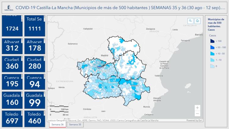 Situación de la infección del coronavirus en Castilla La Mancha en las dos últimas semanas Situación de la infección del coronavirus en Castilla La Mancha en las dos últimas semanas
